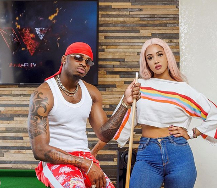 Singer Diamond Platnumz with ex-lover Tanasha Donna