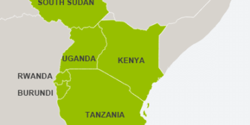 East African Map. Source: Internet