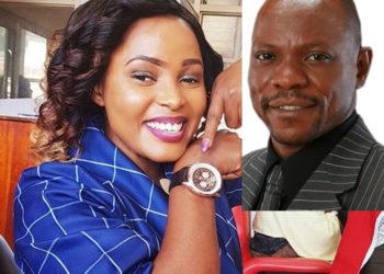 Joan Lule and Pastor Senyonga