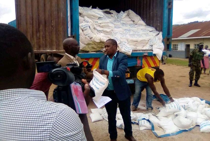MP Gerald Karuhanga donates food relief to people of Ntungamo