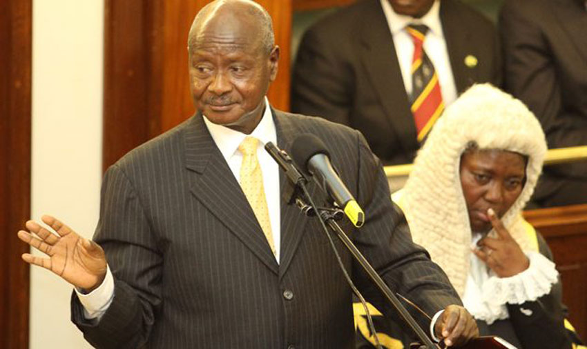 President Museveni and Speaker Rebecca Kadaga