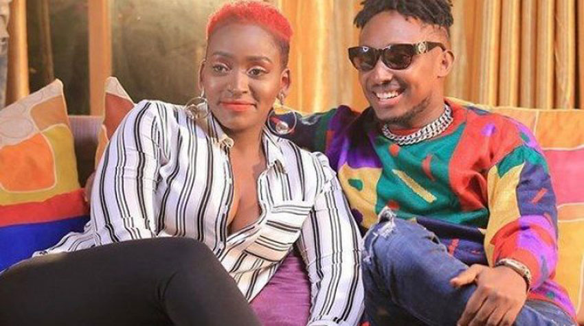Singers Winnie Nwagi and Chozen Blood