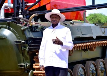 President unveils Uganda's first prototype firefighting, pest control tanker