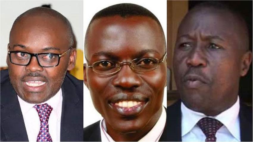 L-R: Medard Sseggona, Gerald Siranda and Matia Bwanika