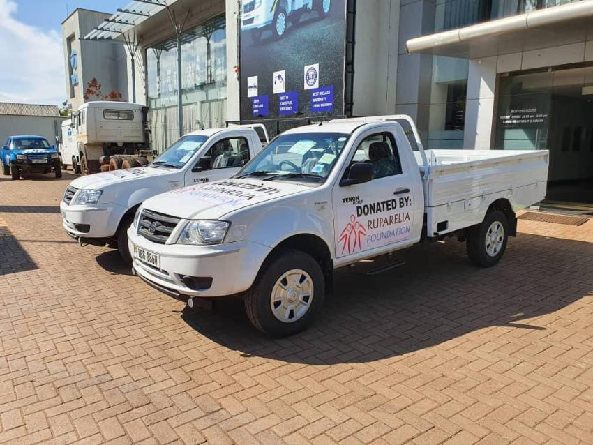Sudhir to hand over 2 brand new pick-ups to support Museveni's Covid-19 taskforce