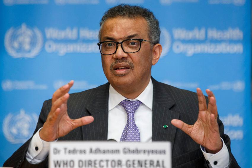 WHO Chief Dr Tedros Adhanom Ghebreyesus