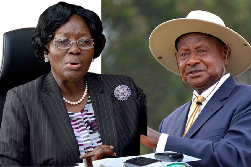 Speaker Rebecca Kadaga and President Museveni