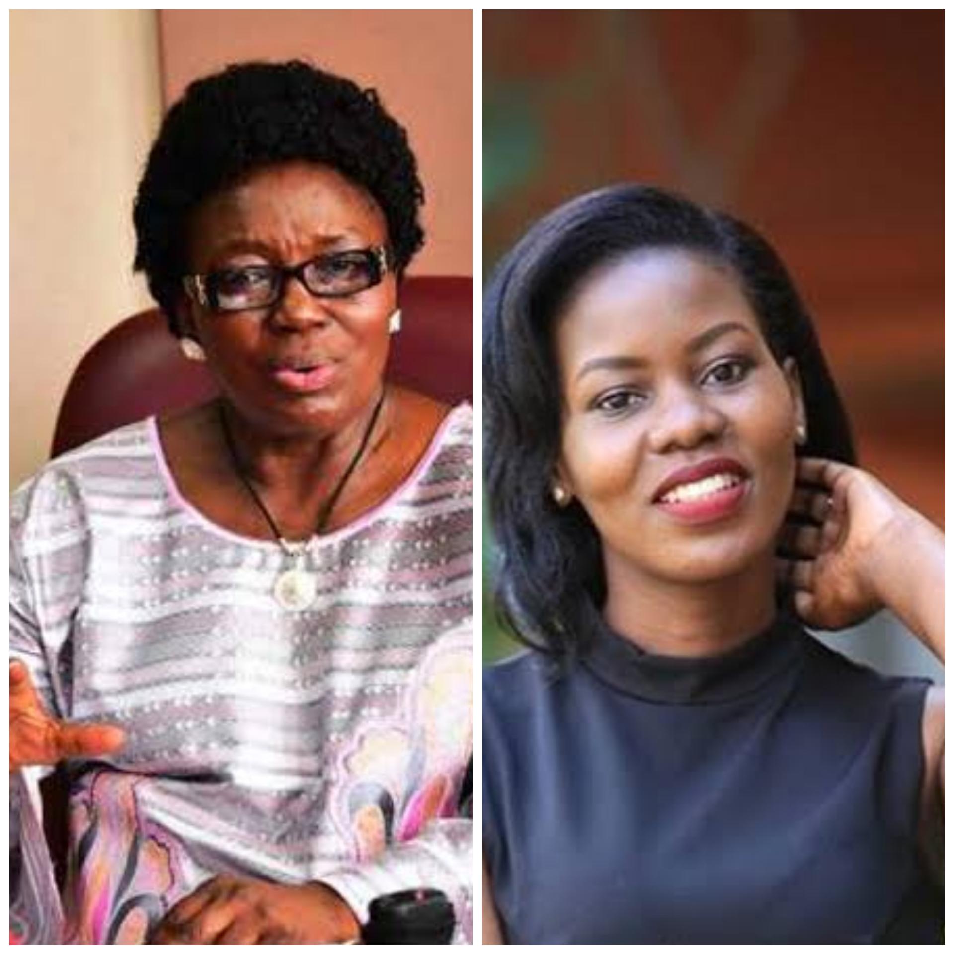 Speaker Kadaga and Faridah Nakazibwe