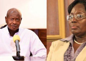 President Yoweri Museveni and Rebecca Kadaga