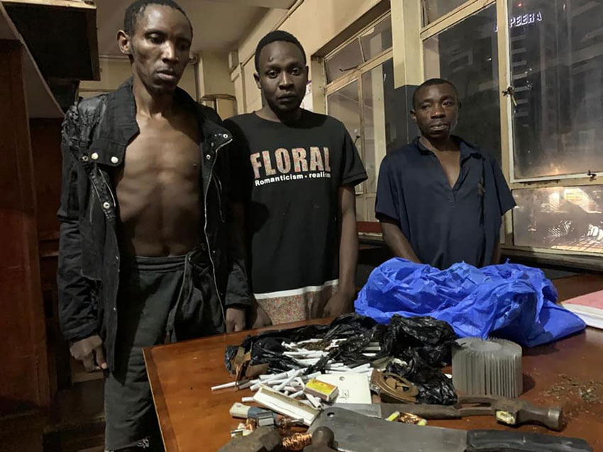 Arrested thugs