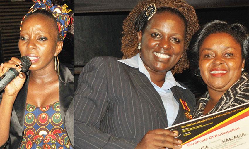 Artistes Fiina Mugerwa, Mariam Ndagire and Joanita Kawalya
