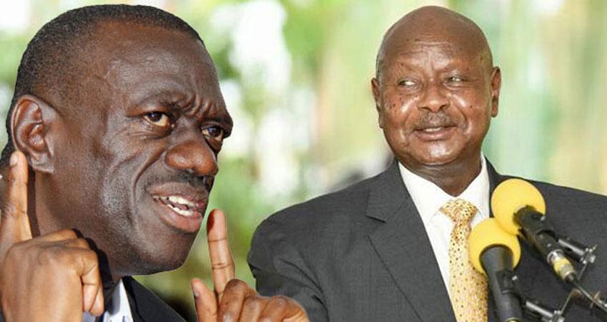 Dr Kizza Besigye and President Yoweri Museveni