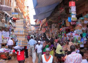 Kikuubo business centre in downtown Kampala