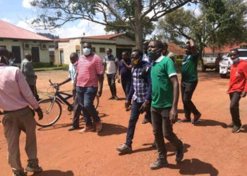 Kabale journalists storming RDC's office