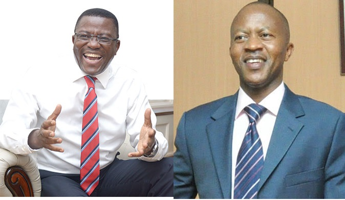 Katikkiro Charles Peter Mayiga and Frank Gashumba