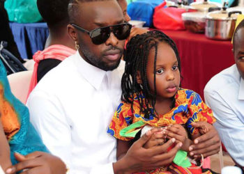Eddy Kenzo with daughter Aamal Musuuza