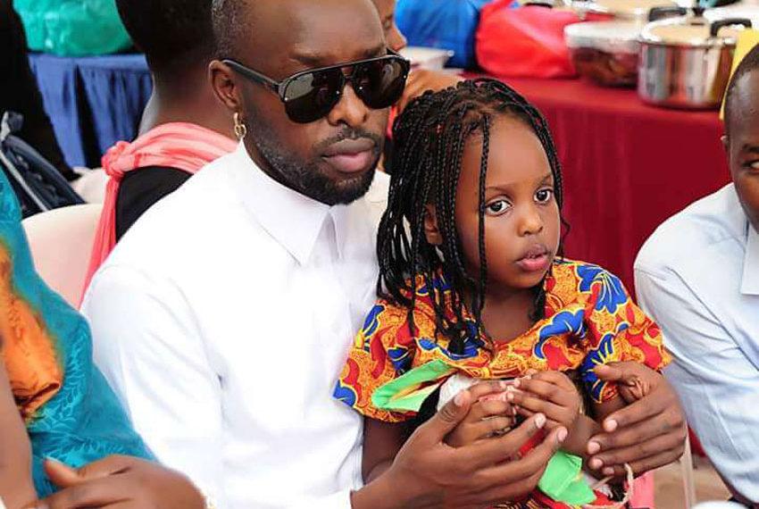 Eddy Kenzo with daughter Aamal Musuuza