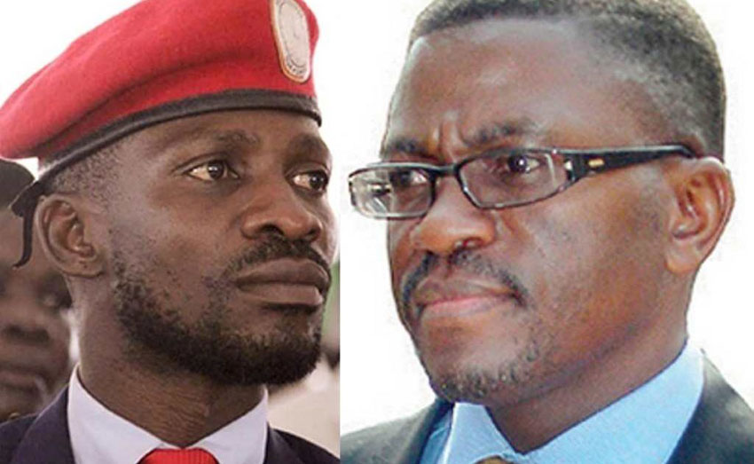 Bobi Wine and Katikkiro Peter Mayiga