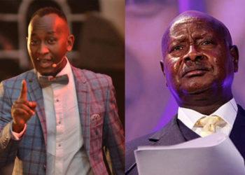 Elvis Mbonye and President Yoweri Museveni