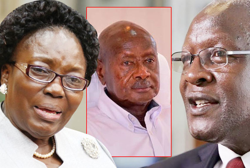 Rebecca Kadaga, Yoweri Museveni and Bart Katureebe