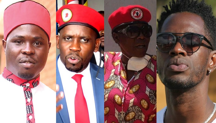 People Power's Francis Zaake, Joel Senyonyi, Lina Zedriga and Nubian Li, all on Museveni's wish list