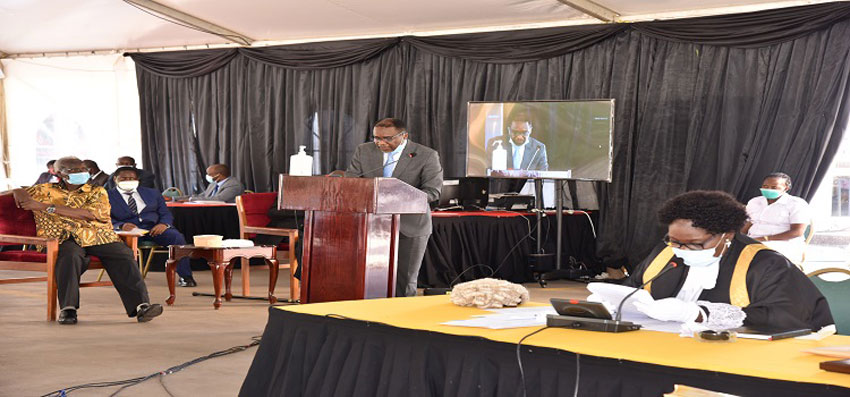 The Attorney General Hon Byaruhanga makes his contribution on the Bill
