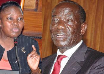 Speaker Rebecca Kadaga and former Speaker Edward Ssekandi