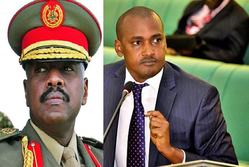 Gen Muhoozi Kainerugaba and Minister Frank Tumwebaze