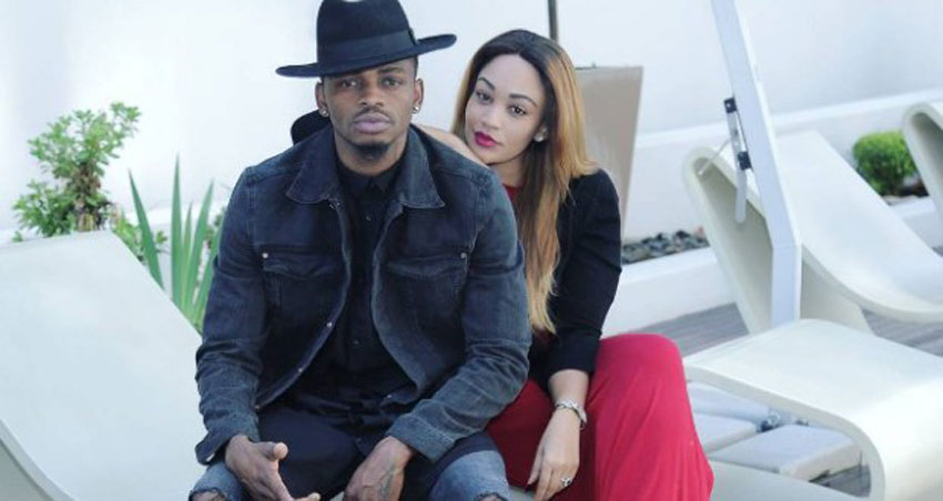 Diamond Platnumz with ex-lover Zari Hassan