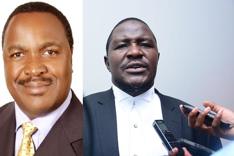 Dr. Elioda Tumwesigye omubaka wa Sheema munisipalite ne Asuman Basalirwa owe Bugiri