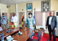 Events promoters Bajjo and Abtex with Speaker Kadaga at Parliament on Friday