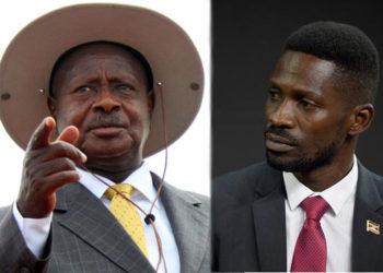 President Yoweri Museveni and Bobi Wine