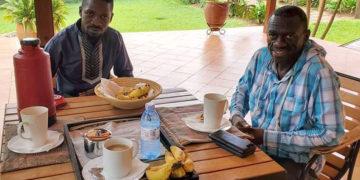 Bobi Wine with Dr Kizza Besigye recently