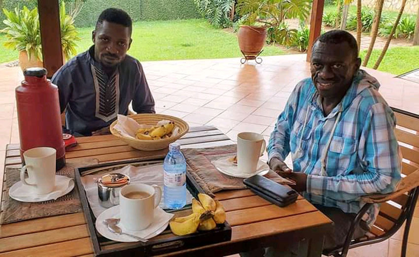Bobi Wine with Dr Kizza Besigye recently