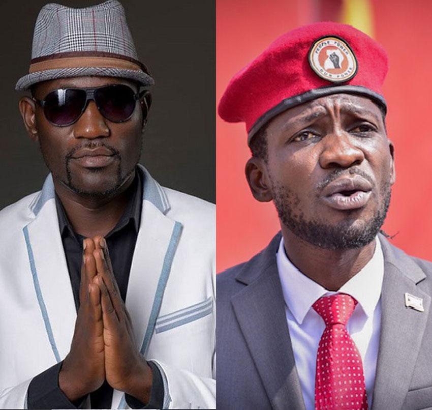 Eddy Yawe and Bobi Wine