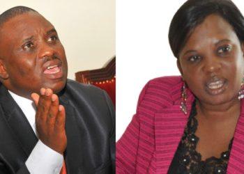 Omuloodi Erias Lukwago ne Minisita wa Kampala Betty Amongi