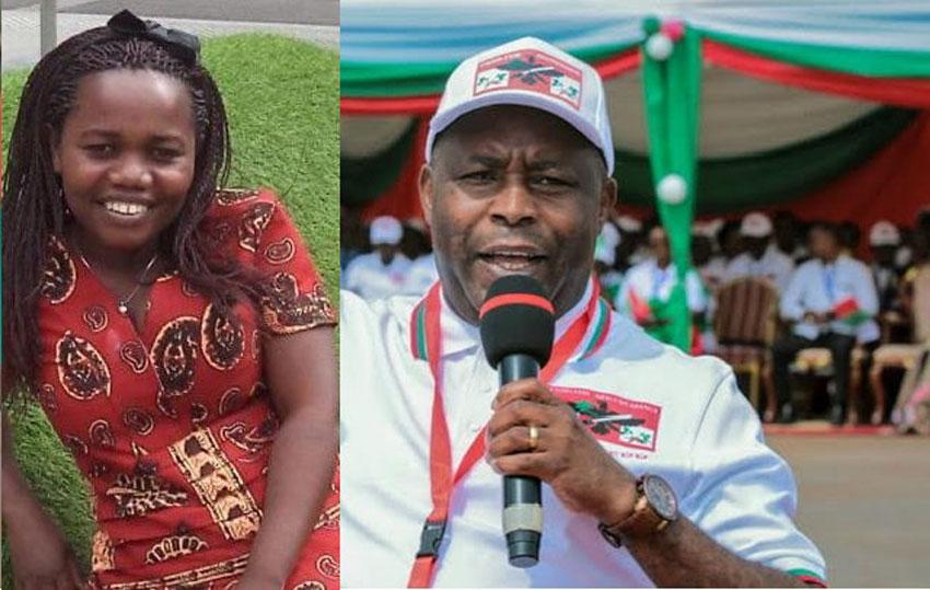 Minister Imelde and President Evariste Ndayishimiye