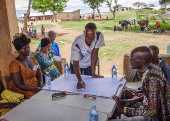 Financial literacy training participants in Rwamwanja Refugee  settlement Photo-Kristina Jervell