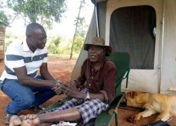 Munnamawulire Moses Kizito Buule nga abuuza ku Gen. Kasirye Ggwanga lwe yamusisinkana ku Faamu ye E Banda Kyandaaza