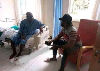 Sick Kato Lubwama in hopsital