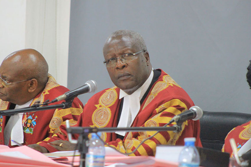 Outgoing Chief Justice Bart Katureebe