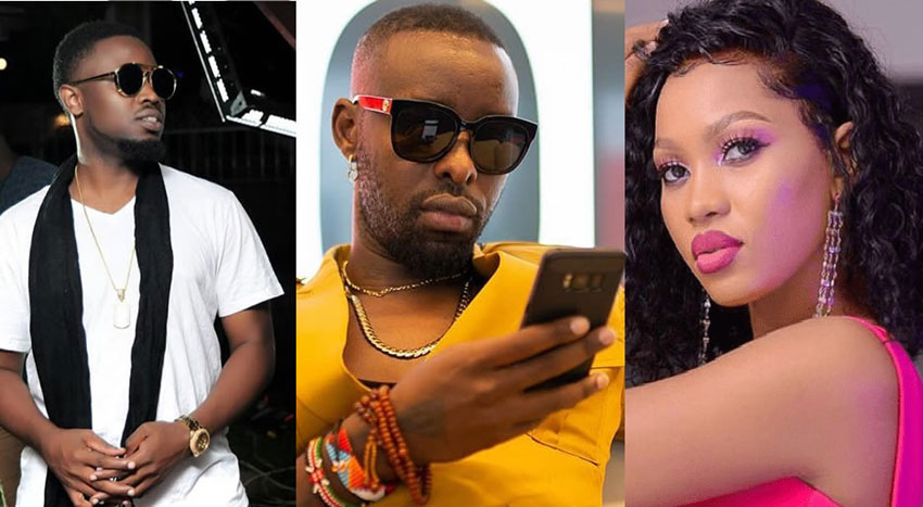 L-R: Daddy Andre, Eddy Kenzo and Spice Diana