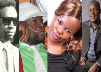 L-R: Philly Bongole, Paddy Bitama, Harriet Kisakye and Martin Angume