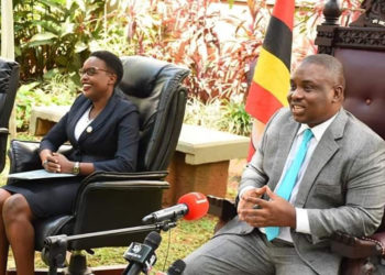 Kampala Lord Mayor Erias Lukwago with his deputy Doreen Nyanjura