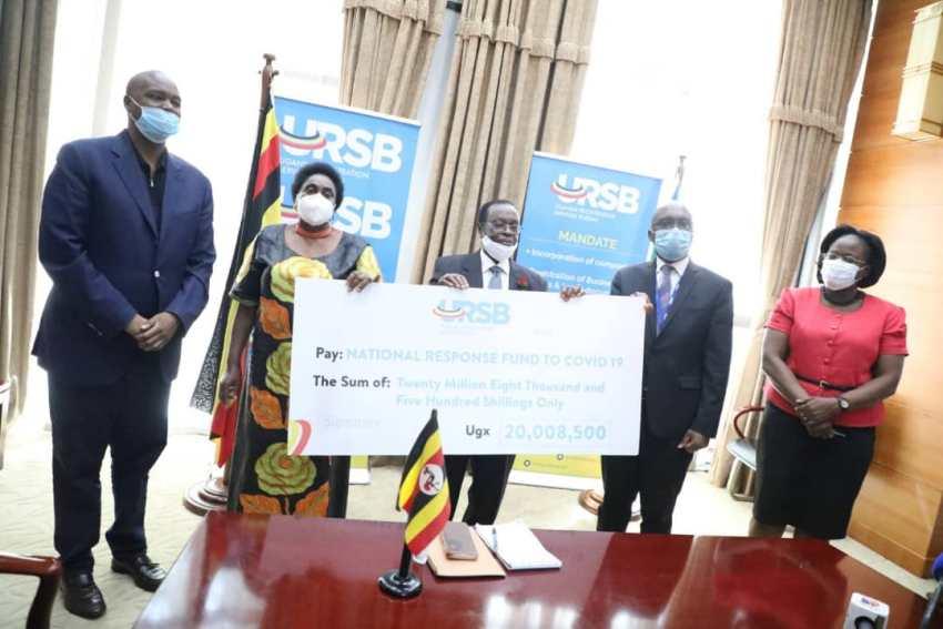 URSB donates 20 million towards the national response task-force to fight COVID-191