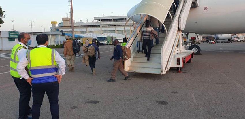Stranded Ugandans who returned from Afghanistan on Saturday