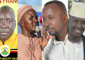 L-R: Oketcho John Francis, Asuman Basalirwa, Hamza Evuga and Ibrahim Nakendo Kizire