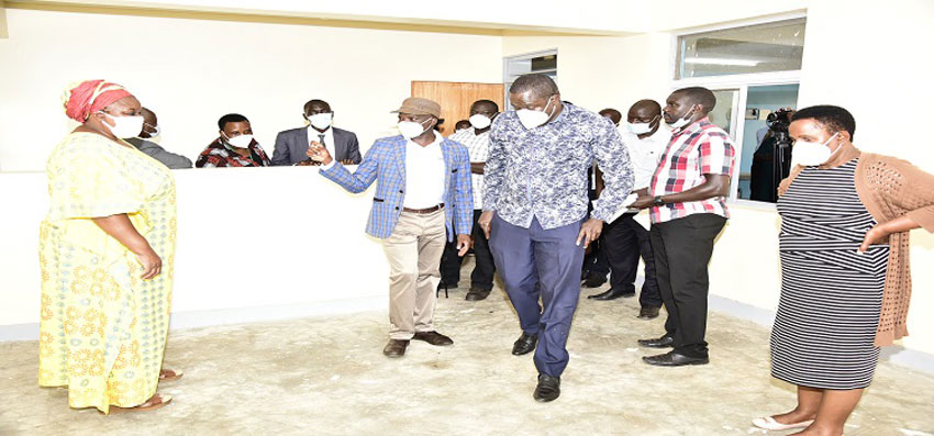 MPs in the Parliament Task Force on Covid19 tour Kamuli Hospital