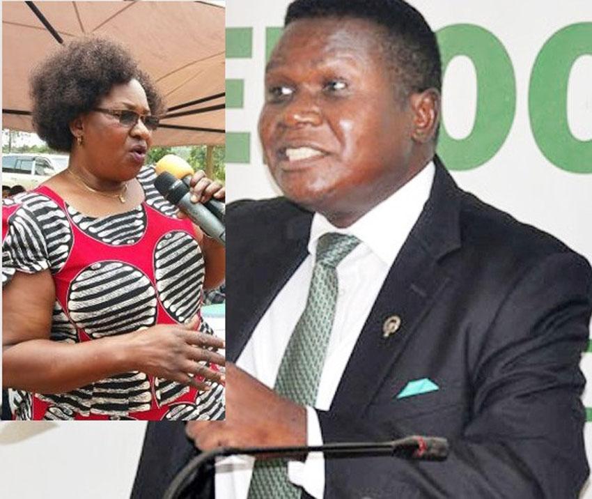 MP Florence Namayanja and Norbert Mao