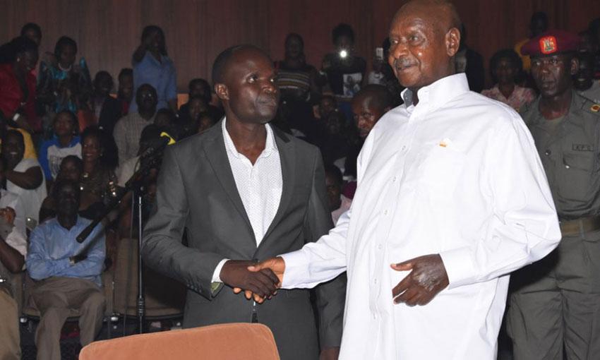 Ronald Mayinja with President Yoweri Museveni last year